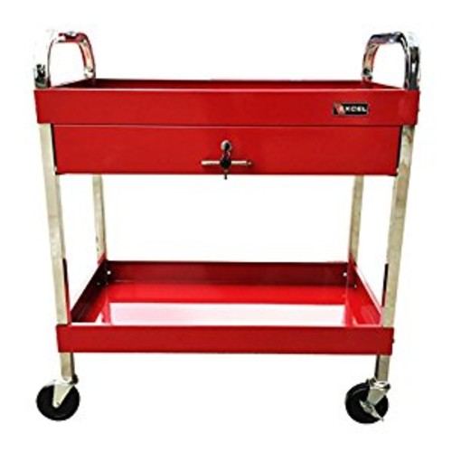 Excel TC303D-Red 30-Inch Steel Tool Cart, Red [Red]