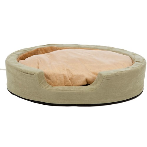K&H Pet Heated Thermo Snuggly Sleeper Pet Bed