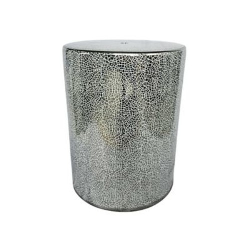 Willa Arlo Interiors Madden Ceramic Garden Stool; Silver