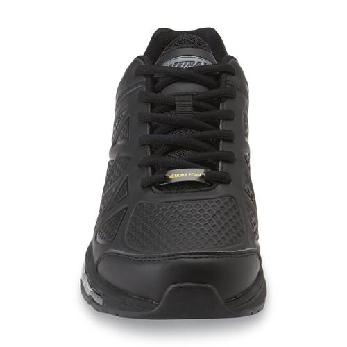 Safetrax Men's Jam Slip-Resistant Memory Foam Athletic Work Shoe - Black [Width : Medium]