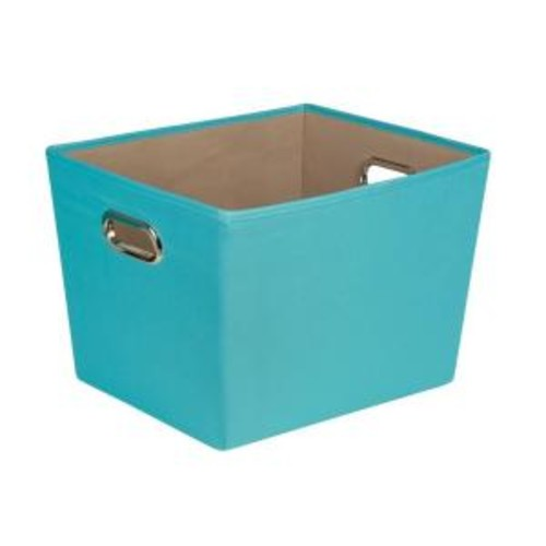 Honey-Can-Do 38.3 Qt. Medium Decorative Storage Bin with Handles