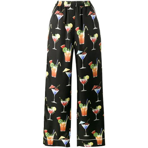 DOLCE & GABBANA Cocktail Print Pyjama Trousers