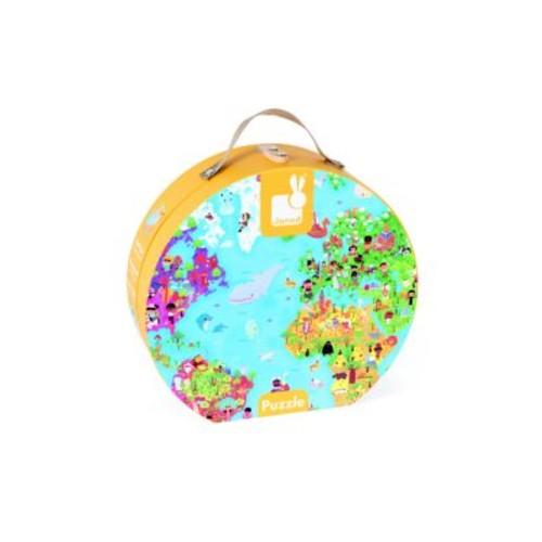 World Map Puzzle & Suitcase