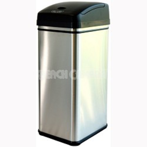 iTouchless Deodorizer 13 Gallon Automatic Touchless Trash Can w/ Carbon Filter (DZT13P)