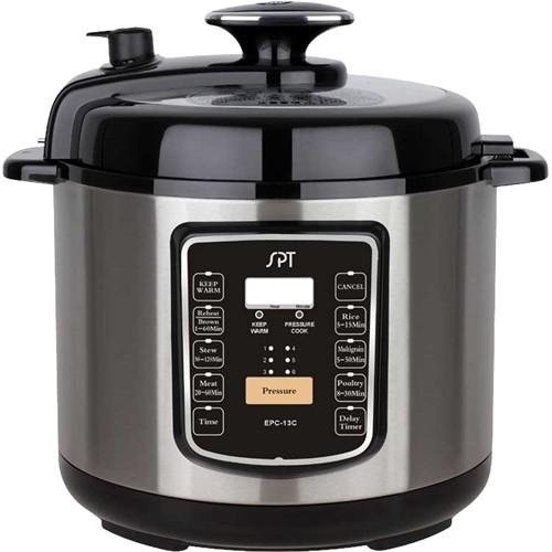 SPT - 6.5-Quart Electric Pressure cooker - Steel