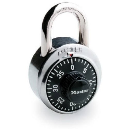 Master Lock Padlock, Standard Dial Combination Lock, 1-7/8 in. Wide, Black, 1500D [1 Pack]