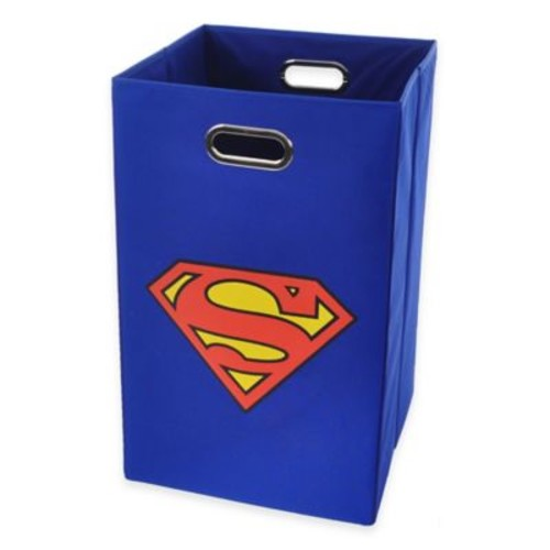 Modern Littles Superman Folding Laundry Bin in Blue