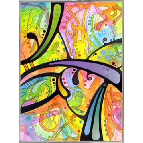 East Urban Home 'Abstract' Graphic Art Print; Silver Metal Framed