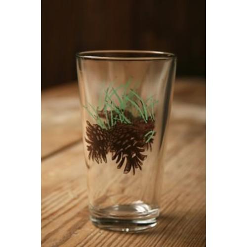 Loon Peak Brooks Pine Cone 20 oz. Water/Juice Glass (Set of 4)