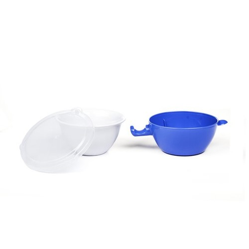 Heat Resistant Microwave Bowl with Safety Grip Burnproof Handles