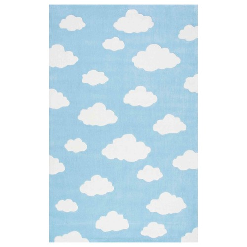 Cloudy Sachiko Rug in Blue design by NuLoom - 5 x 8