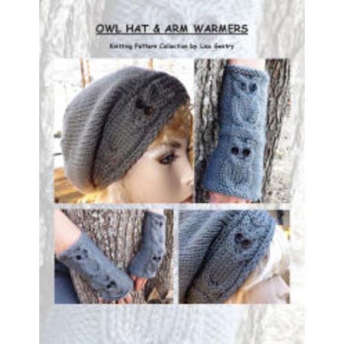 Owl Hat & Arm Warmers - Knitting Pattern