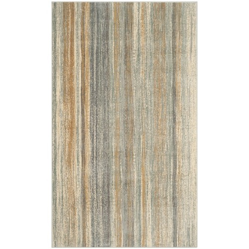 Safavieh Vintage Light Blue Abstract Distressed Silky Viscose Rug (3'3 x 5'7)
