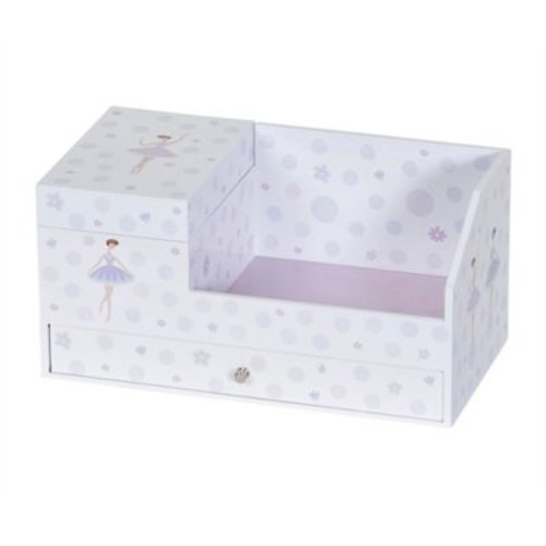 Mele & Co Bethany Girl's Musical Ballerina Jewelry Box in White