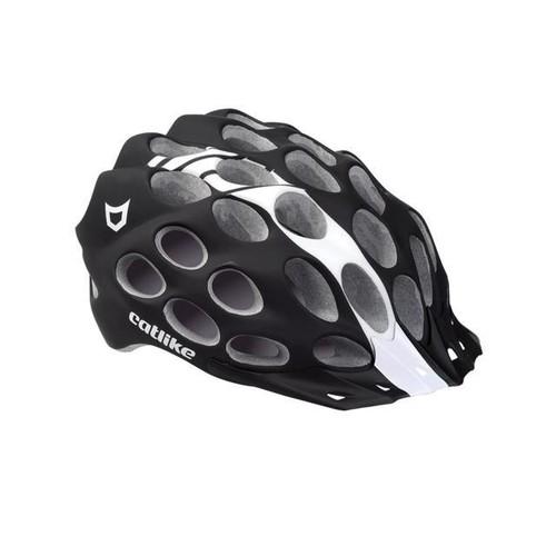 Catlike 2015 Whisper Road Cycling Helmets (Black/White Matte - S)