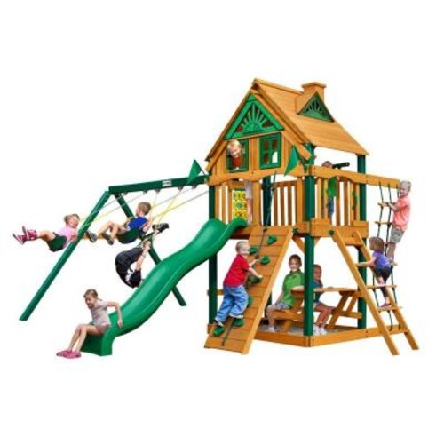 Gorilla Playsets Chateau Tree House Swing Set with Timber Shield
