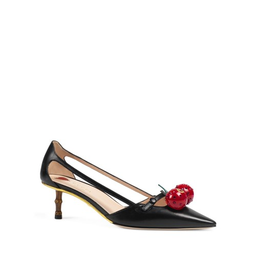 GUCCI Unia Cherry Pointed Toe Pumps