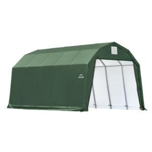 ShelterLogic 12 ft. x 20 ft. x 11 ft. Green Steel and Polyethylene Garage without Floor
