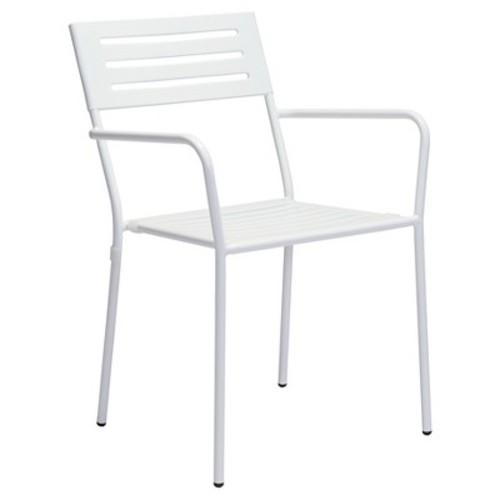 Zuo Wald Dining Arm Chair - White