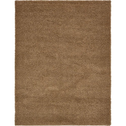 Unique Loom Solid Shag Sandy Brown 12 ft. x 15 ft. Area Rug