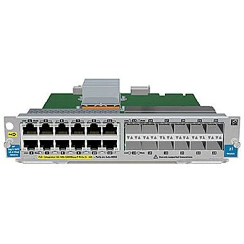 HPE J9637A Gig-T PoE+/12-port SFP v2 zl, Expansion module, Gigabit Ethernet
