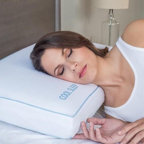 PostureLoft Cool Sleep Ventilated Gel Memory Foam Pillow [option : Queen]