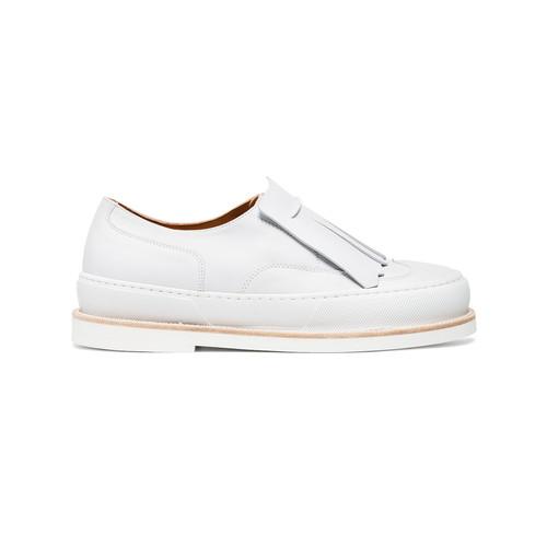 White Tania 30 Leather Flats