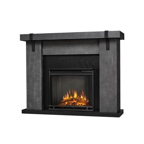 Real Flame 9220E-GBW Gray Barnwood Aspen Electric Entertainment Fireplace