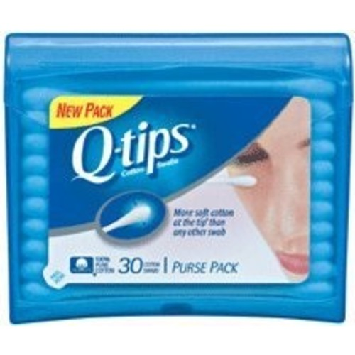 Q-tips Cotton Swabs, Purse Pack 30 swabs