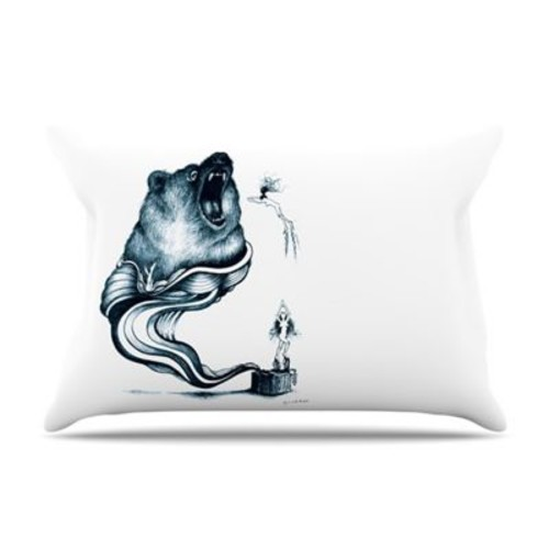 KESS InHouse Hot Tub Hunter Pillowcase; King