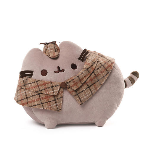 Gund 12 inch Detective Pusheen Plush - Brown