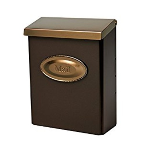 Gibraltar Mailboxes Designer Locking Medium Capacity Galvanized Steel Venetian Bronze, Wall-Mount Mailbox, DMVKGV04 [Bronze w/Brass]