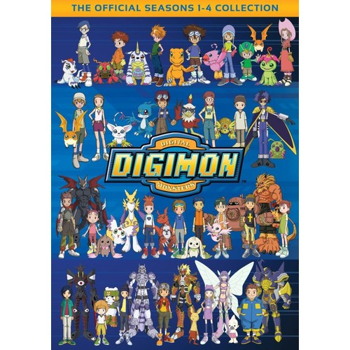 Digimon: Digital Monsters - The Official Seasons 1-4 Collection [32 Discs] [DVD]