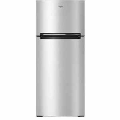 Whirlpool 18 cu.ft. Refrigerator Compatible with The EZ Connect Icemaker Kit - Fingerprint Resistant Metallic Steel