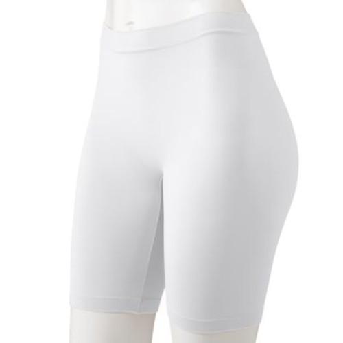 Jockey Skimmies Mid-Thigh Slip Shorts 2109: Clothing [White, Small]