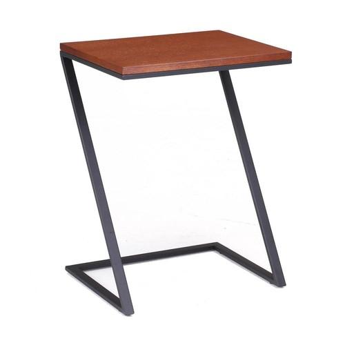 Tag Foster Black Steel with Wood Veneer Top Z Table