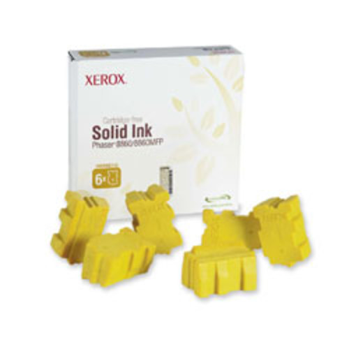 Xerox 108R00748 Yellow Solid Ink Sticks, Pack Of 6