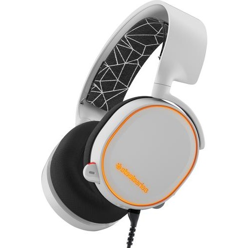SteelSeries - Arctis 5 Wired 7.1 Surround Sound Gaming Headset for Xbox One, Mac, PlayStation 4, Windows, Android and iOS - White