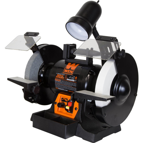 WEN 5-Amp 8-Inch Variable Speed Bench Grinder with Work Light
