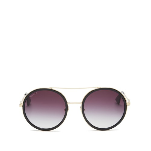GUCCI Gradient Round Sunglasses, 56Mm