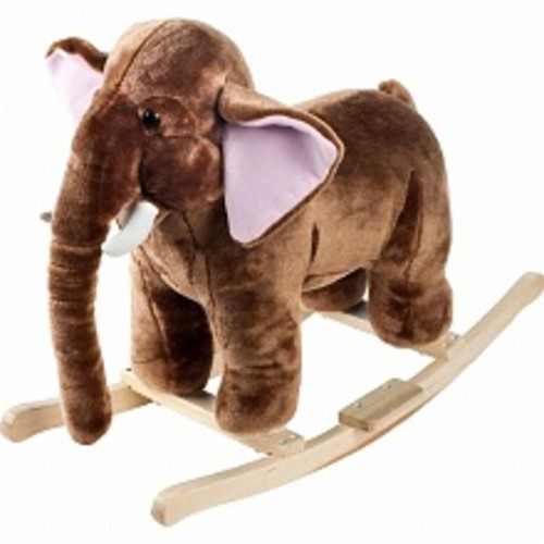 Happy Trails Mo Mammoth Plush Rocking Animal with Sounds