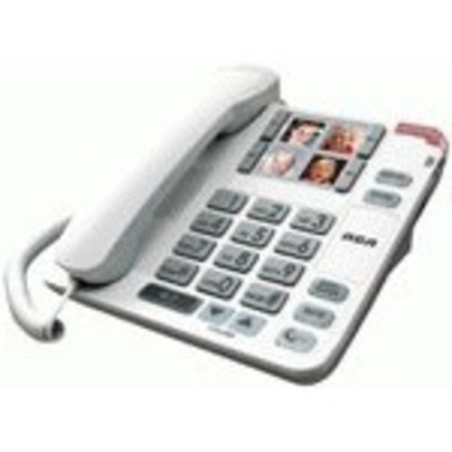 RCA Amplified Big Button Picture Corded Phone System-RCA-1123-1WTGA