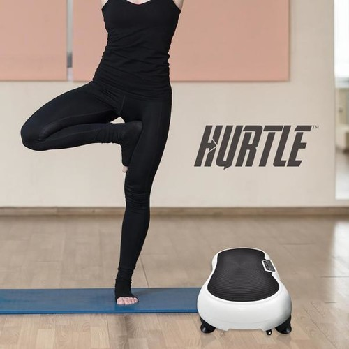 Hurtle HURVBTR30 Standing Platform Exercise and Workout Trainer Vibration Fitness Machine