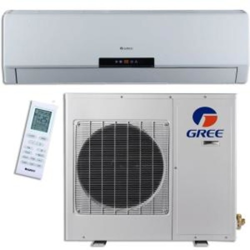 GREE Premium Efficiency 12,000 BTU 1 Ton Ductless Mini Split Air Conditioner with Inverter, Heat, Remote 115V