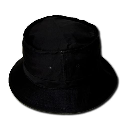 TopHeadwear Blank Bucket Hat, Black - Small/Medium