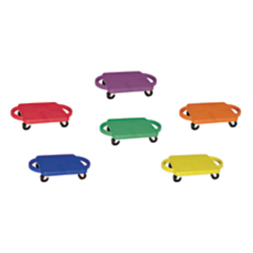 Champion Sports Standard Scooters With Handles, Assorted Colors, Pack Of 6