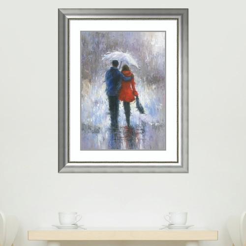 Amanti Art Rain Romance Framed Wall Art