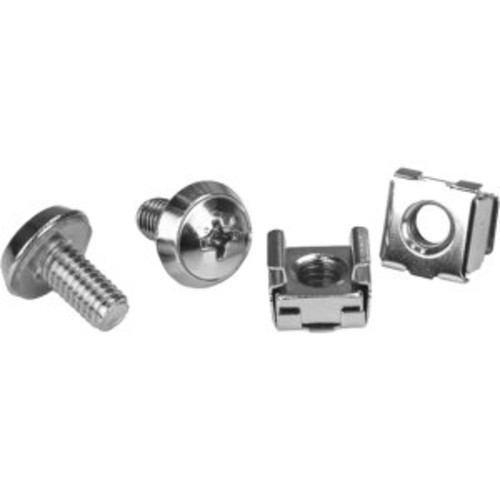 StarTech.com M6 Mounting Screws and Cage Nuts for Server Rack Cabinet (Pack of 100)
