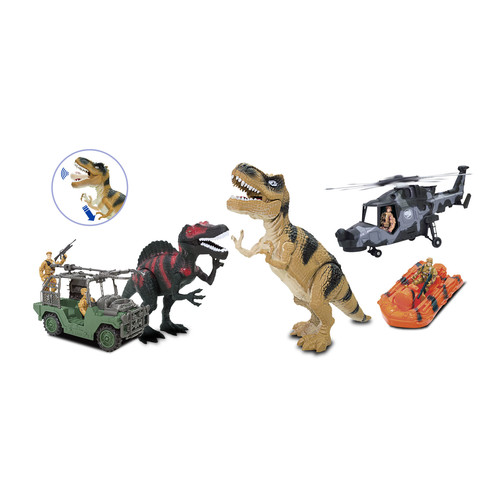Just Kidz 35-Piece Dinosaurs Hunting Play Set
