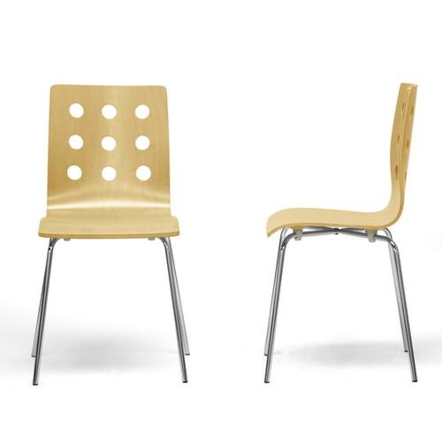 Baxton Studio Celeste Modern Dining Chairs (Set of 2) [option : Brown]